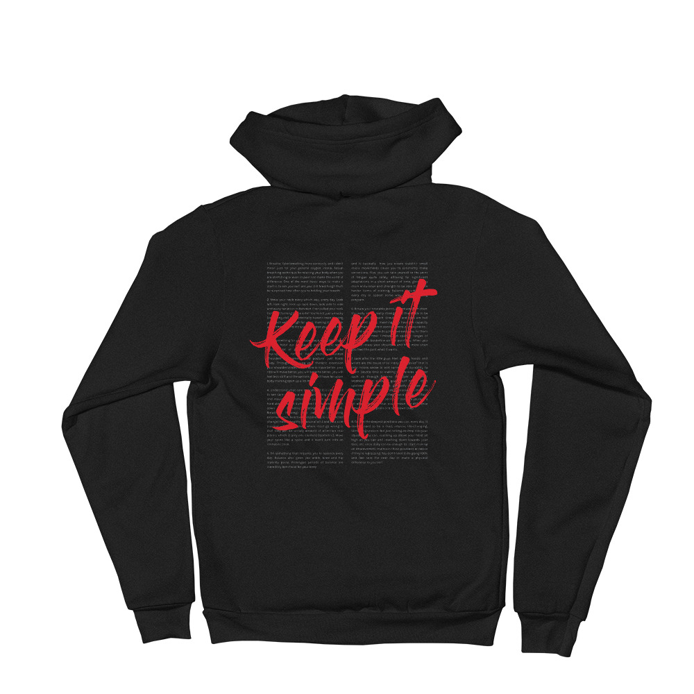 Keep It Simple (Back Print) - Unisex Hoodie image